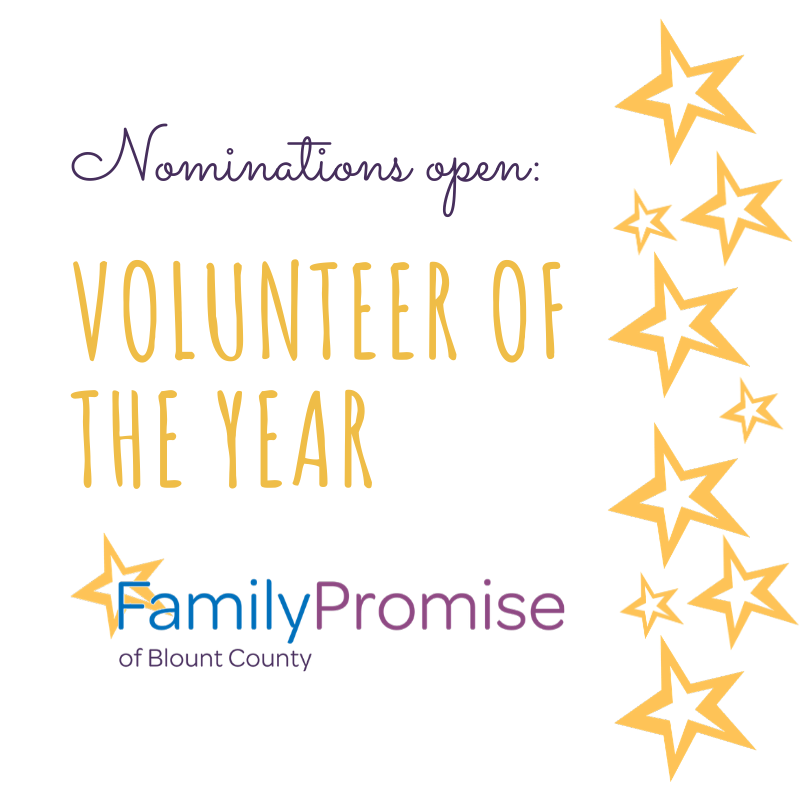 Nominate the 2020 Family Promise Volunteer of the Year