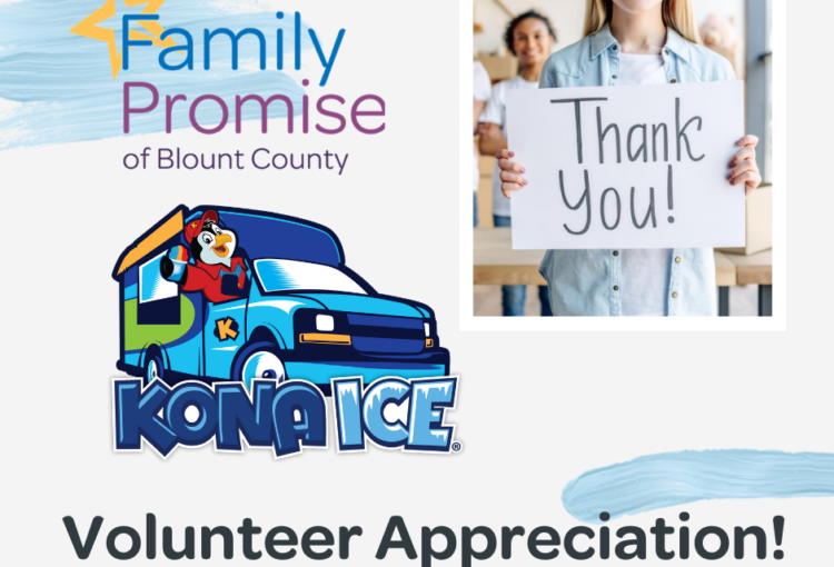 Volunteer Appreciation – We would like to give you a Cool Treat!