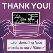 Saks Off 5th Avenue Donates Masks to Family Promise!